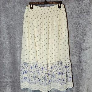ON floral boho gypsy skirt large